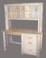 Cedar Log Single Pedestal Desk - C4057