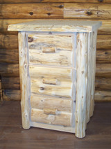 Hand Peeled Cedar Log 3 Drawer Night Stand - CHP5018