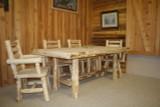 Hand Peeled Cedar Log Trestle Table - CHPTTBL