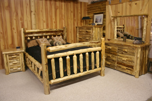 Hand Peeled Cedar Log Beds - CHP5001, CHP5003, CHP5005, CHP5007