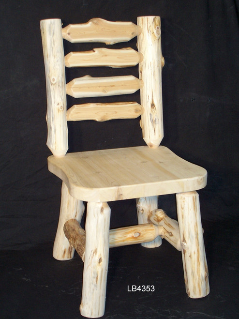 Hand-Peeled Cedar Log Ladder Back Chairs - LB4353, LB4353ARM