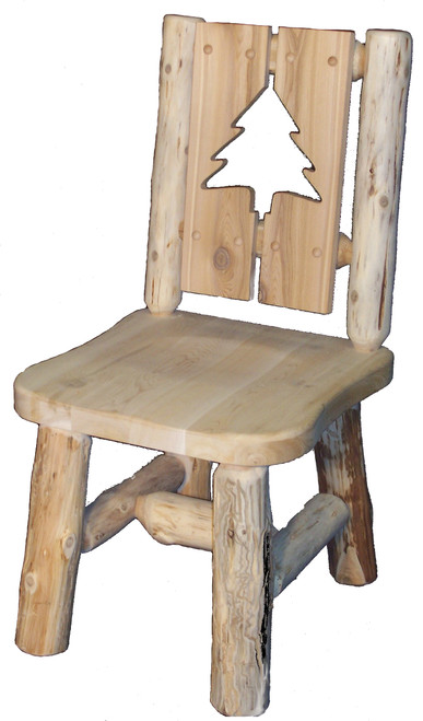 Hand Peeled Cedar Log Chairs 2 Panel Cut-Out - 2PCO8234, 2PCO8234Arm