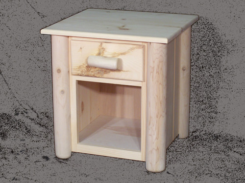 Frontier 1 Drawer Open Bottom Cedar Log Night Stand - CF7101