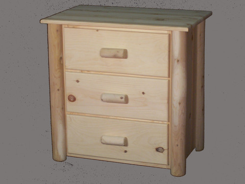 Frontier Cedar Log 3 Drawer Chest - CF7104