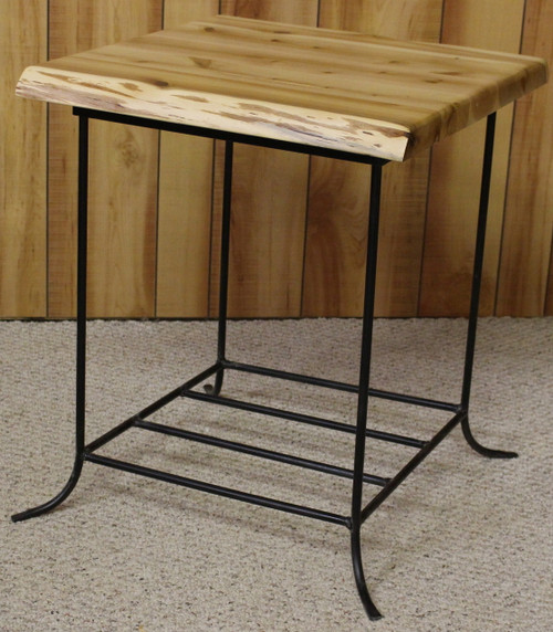 Hidden Lake Cedar & Metal End Table - HLCME