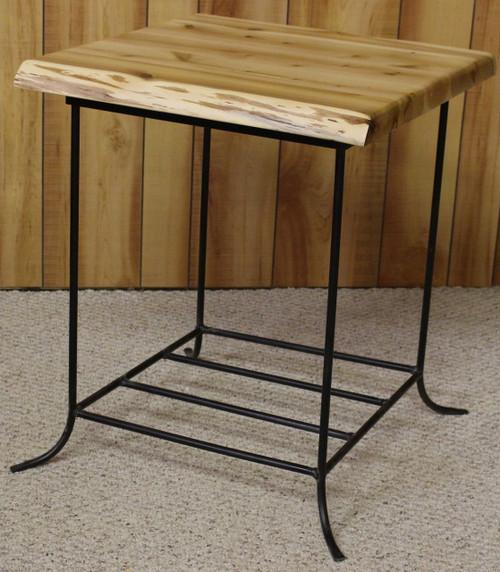 Hidden Lake Cedar & Metal End Table - HLCME