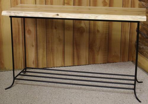Hidden Lake Live Edge Cedar & Metal Sofa Table - HLLECMS