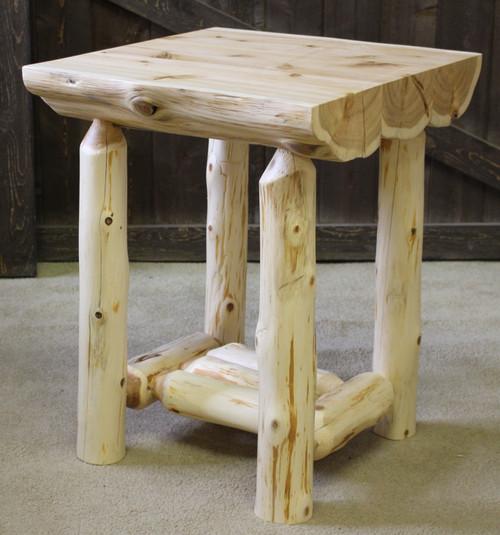Hidden Lake Half Log End Table - HPHLET