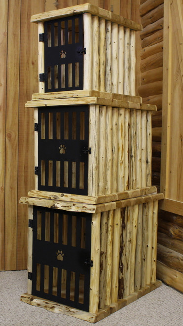 Hand Peeled Cedar Log Crate - HLDC