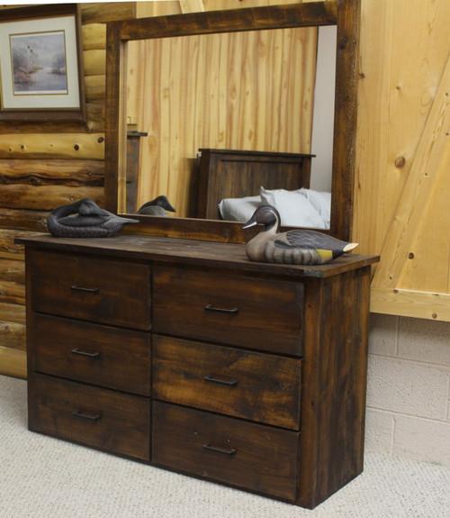 Rough Sawn 6 Drawer Dresser - CT9106