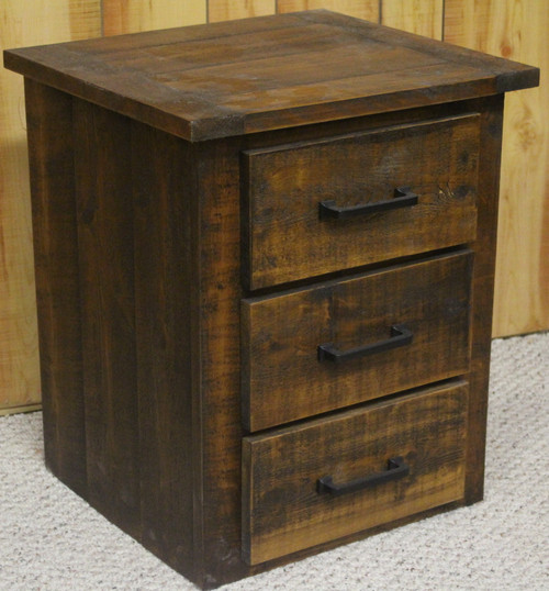Rough Sawn Cedar 3 Drawer Nightstand - CT9103