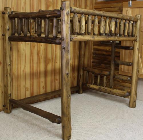 Cedar Hand Peeled Loft Bed - CHPLOFT