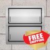 Smart Vent 1540-521 Stainless Steel Insulated Double Stacker Flood Vent FREE SHIPPING