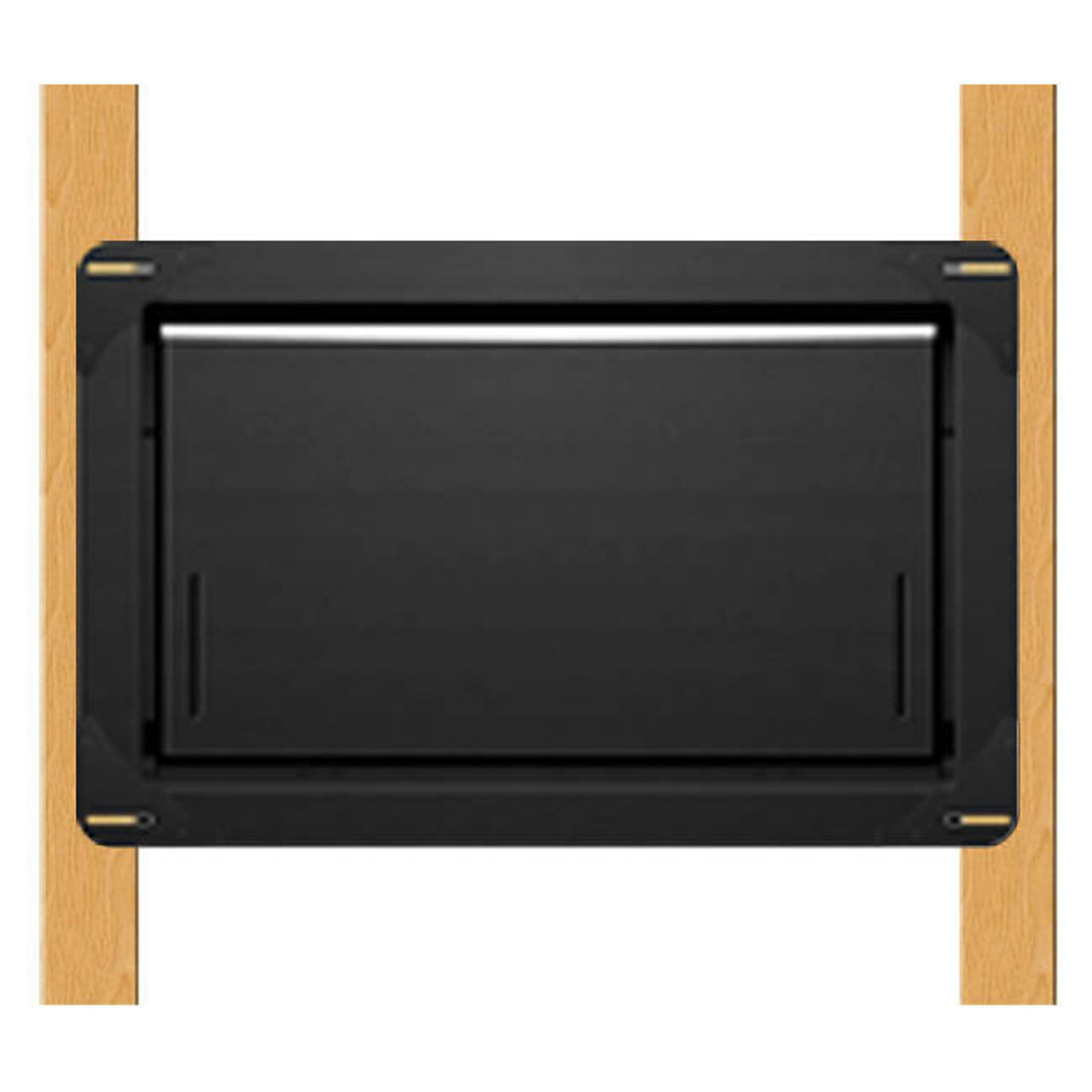 Smart Vent 1540-570 Wood Wall Insulated Flood Vent, Powder Coated Black