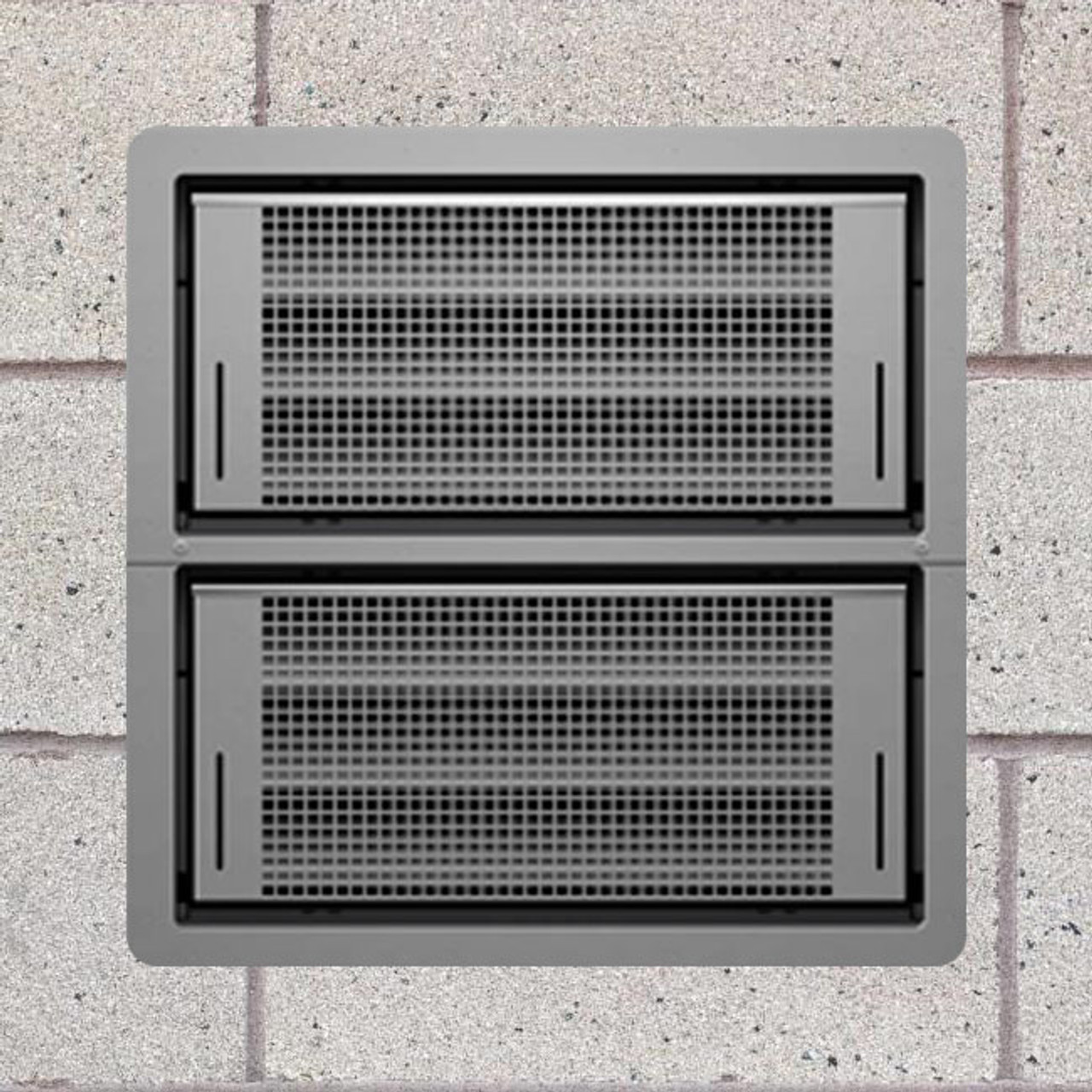 Smart Vent 1540-511 Gray Dual Function Double Stacker Flood Vent