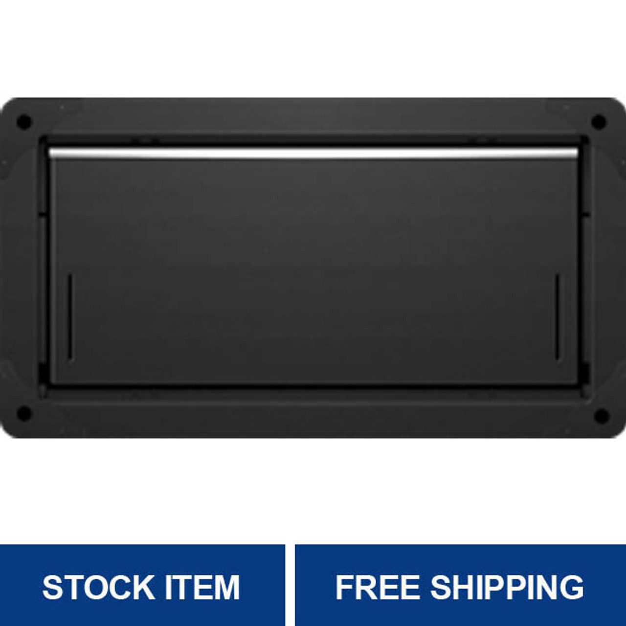 Smart Vent 1540-524 Black Overhead Garage Door Flood Vent