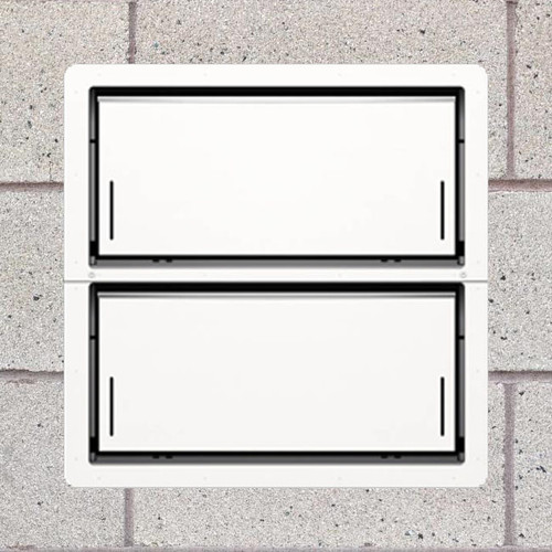 Smart Vent 1540-521 White Insulated Double Stacker Flood Vent