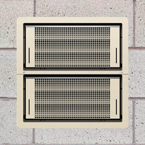 Smart Vent 1540-511 Wheat Dual Function Double Stacker Flood Vent
