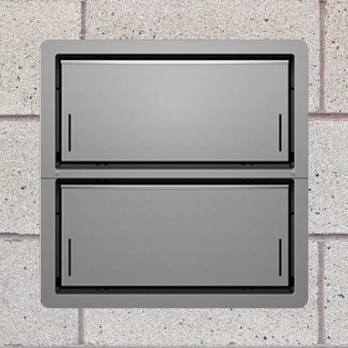Smart Vent 1540-521 Gray Insulated Double Stacker Flood Vent