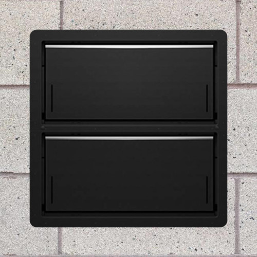 Smart Vent 1540-521 Black Insulated Double Stacker Flood Vent