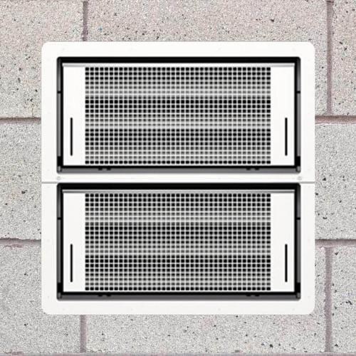 Smart Vent 1540-511 White Dual Function Double Stacker Flood Vent