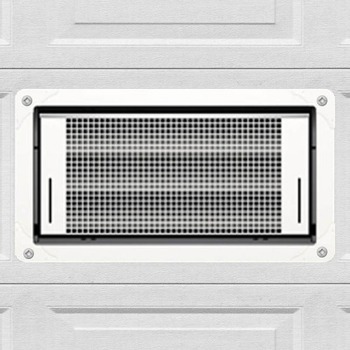 Smart Vent 1540-514 White Overhead Garage Door Dual Function Flood Vent