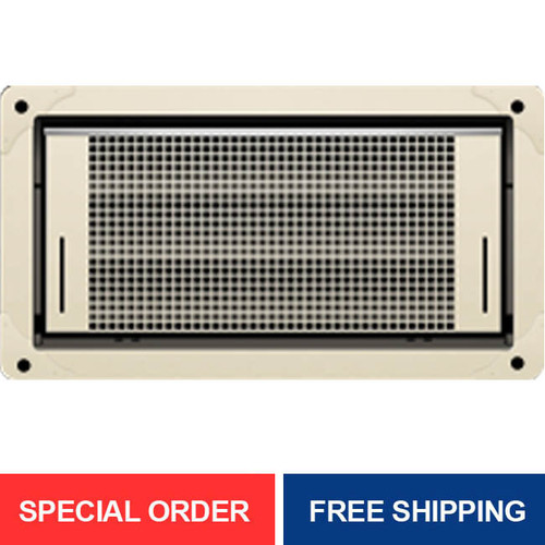 Smart Vent 1540-514 Dual Function Overhead Garage Door Flood Vent, Wheat