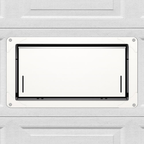Smart Vent 1540-524 White Overhead Garage Door Flood Vent