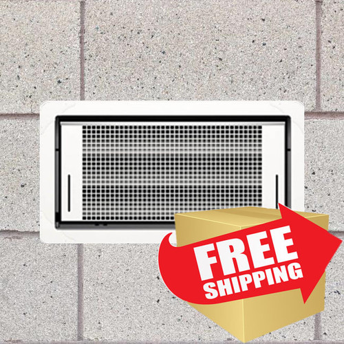 Smart Vent 1540-510 Dual Function White Flood Vent FREE SHIPPING