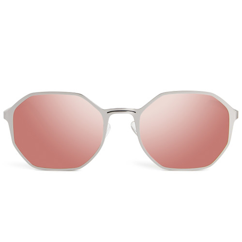 Picture of Tabulae Eyewear RA Silver Rose Gold with custom sunglass frame and lens