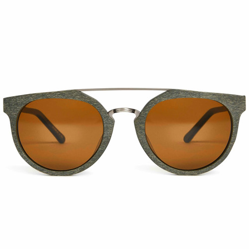 Picture of Tabulae Eyewear HERACLES GREEN with custom sunglass frame and lens