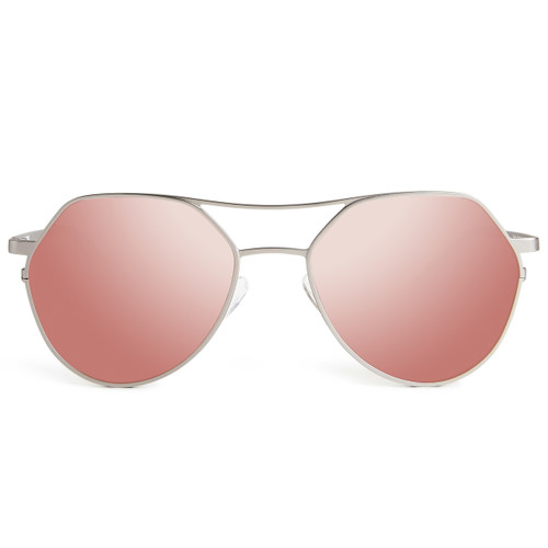 Picture of Tabulae Eyewear BENDIS Silver Rose Gold with custom sunglass frame and lens
