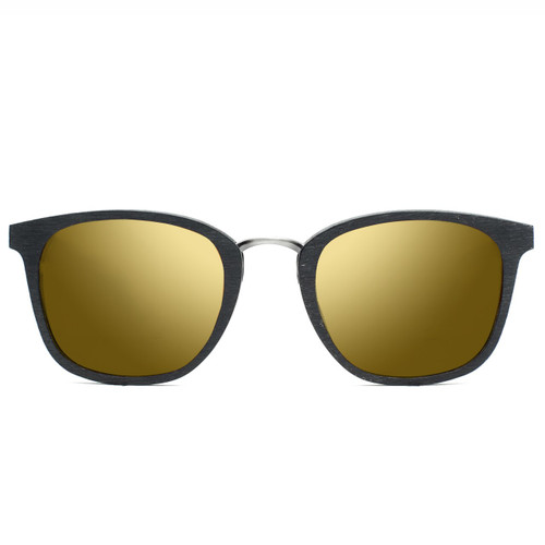 Picture of Tabulae Eyewear EROS BLACK Golden Brown with custom sunglass frame and lens