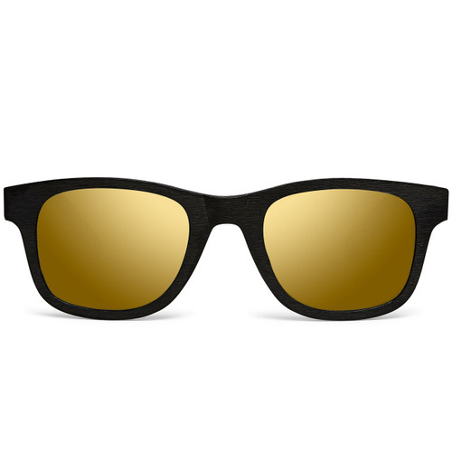 Picture of Tabulae Eyewear Triton Black Golden Brown with custom sunglass frame and lens