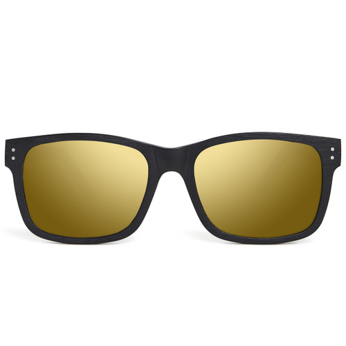 Picture of Tabulae Eyewear MIDAS BLACK Golden Brown with custom sunglass frame and lens