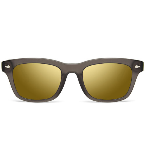 Picture of Tabulae Eyewear LOKI MATTE BLACK Golden Brown with custom sunglass frame and lens
