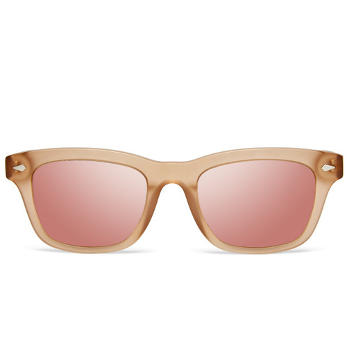 Picture of Tabulae Eyewear LOKI MATTE Rose Gold with custom sunglass frame and lens