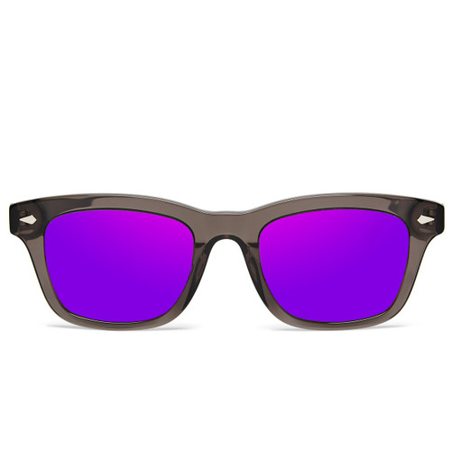 Picture of Tabulae Eyewear LOKI TRANSPARENT Purple with custom sunglass frame and lens