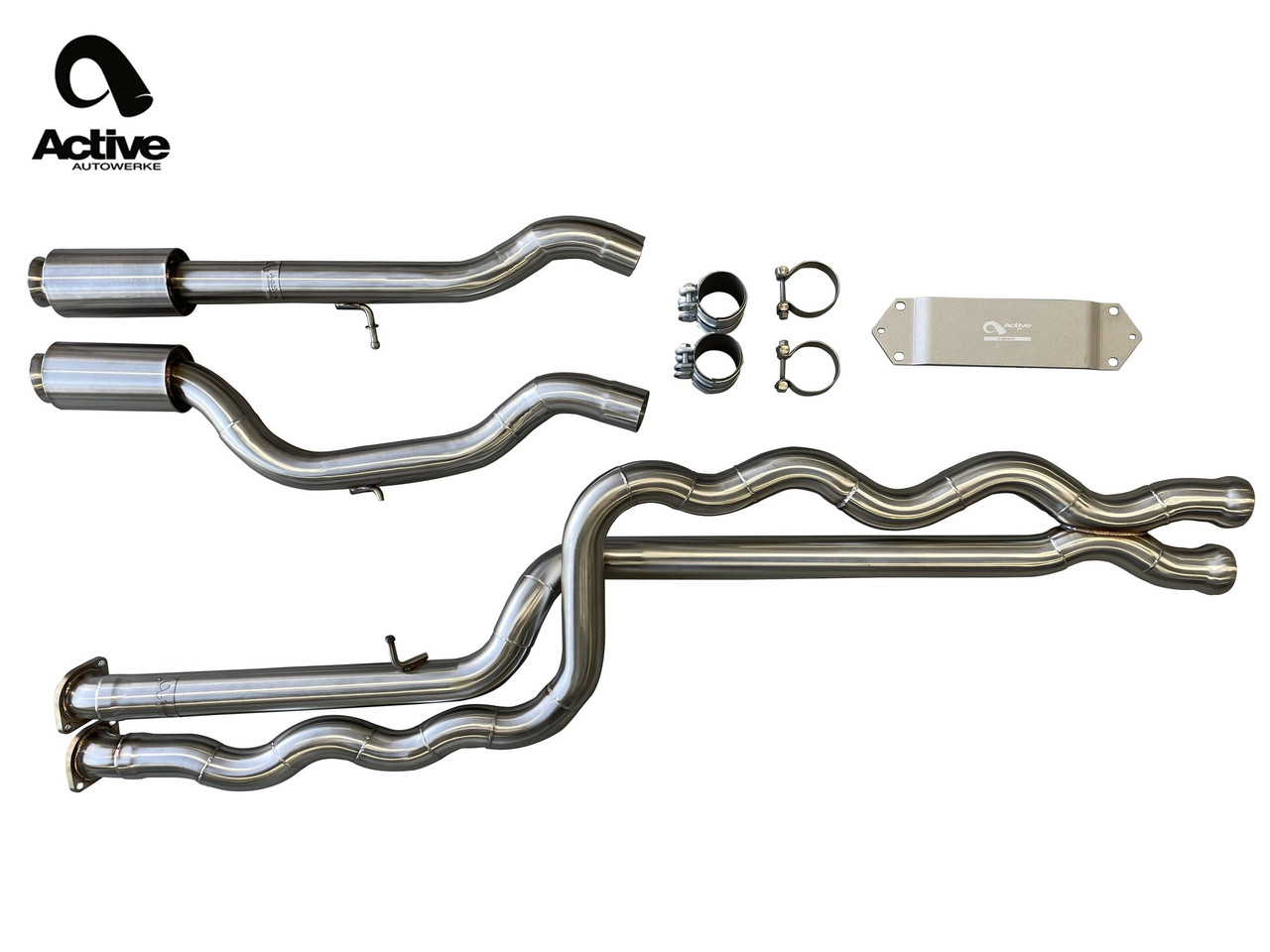 BMW M3/M4 Equal Length Mid Pipe - Active Autowerke 11-055