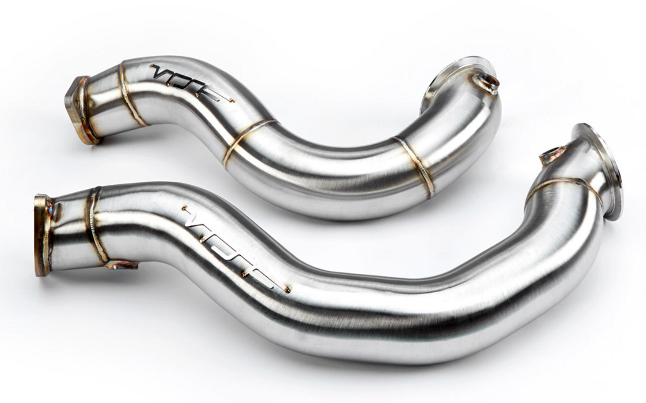 BMW 3″ Cast Stainless Steel Catless Downpipes - VRSF 10902010 (Catless Downpipes)