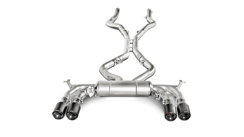 BMW Evolution Line Cat Back Exhaust with Carbon Fiber Tips - Akrapovic S-BM/T/1