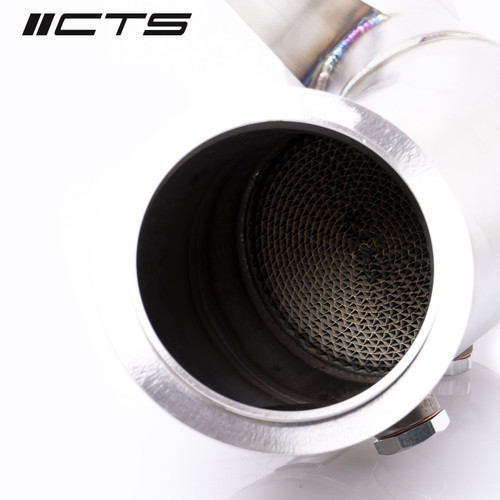 """BMW N55 4"""" High Flow Catted Downpipe - CTS Turbo CTS-EXH-DP-0023-CAT"""