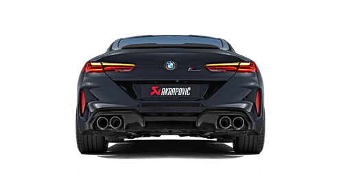 BMW Slip On Line Axle Back Exhaust with Carbon Fiber Tips - Akrapovic S-BM/T/22H