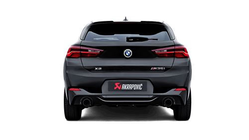 BMW Slip On Line Axle Back Exhaust with Carbon Fiber Tips - Akrapovic S-BM/T/15H