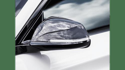 BMW High Gloss Carbon Fiber Mirror Cap Set - Akrapovic WM-BM/CA/1/G