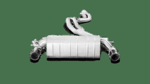 BMW Evolution Line Cat Back Exhaust with Carbon Fiber Tips - Akrapovic MTP-BM/SS/4H