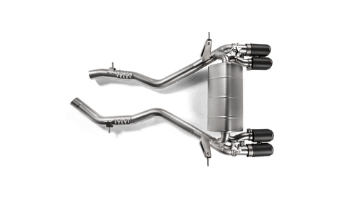 BMW Slip On Line Axle Back Exhaust with Carbon Fiber Tips - Akrapovic S-BM/T/4H