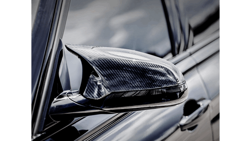 BMW High Gloss Carbon Fiber Mirror Cap Set - Akrapovic WM-BM/CA/2/G