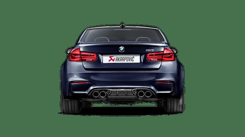 BMW High Gloss Carbon Fiber Rear Diffuser - Akrapovic DI-BM/CA/4/G