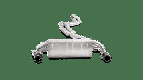 BMW Evolution Line Cat Back Exhaust with Carbon Fiber Tips - Akrapovic MTP-BM/SS/2H